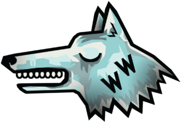 Ww wolf blue transparent notext